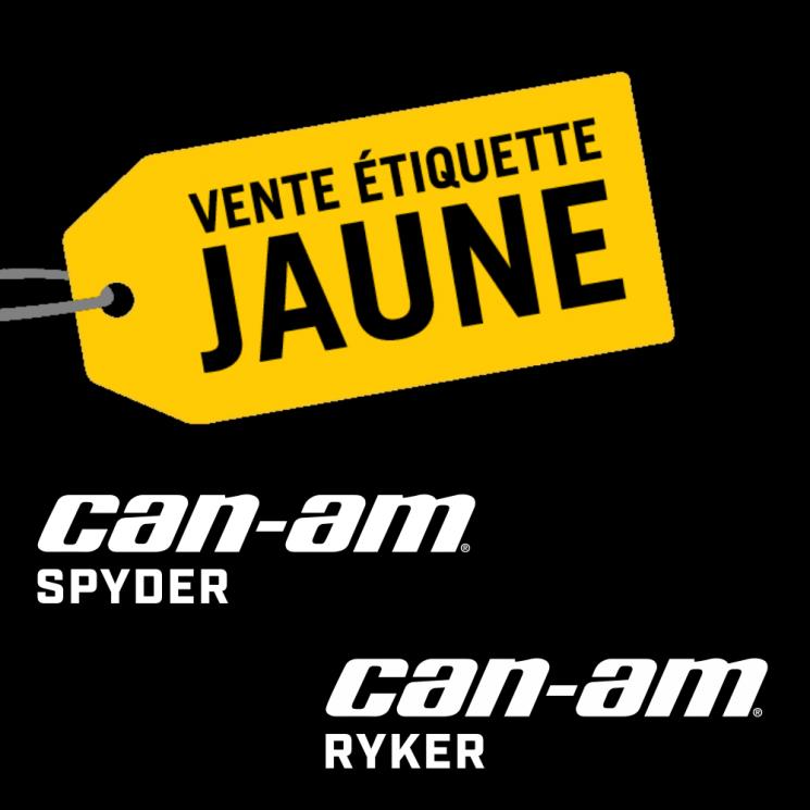 La Vente étiquette jaune Can-Am Spyder et Ryker