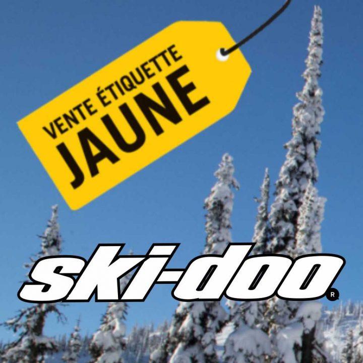 La vente Étiquette jaune de Ski-Doo