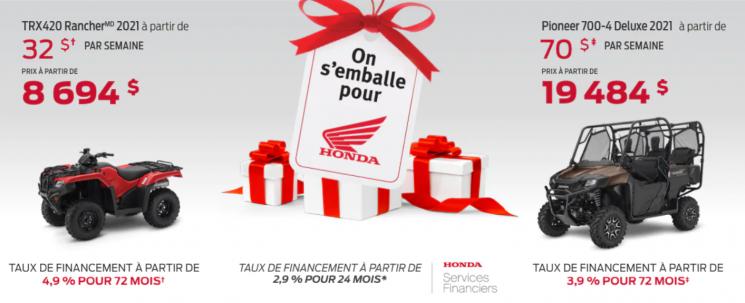 On s'emballe pour Honda – VTT et VCC