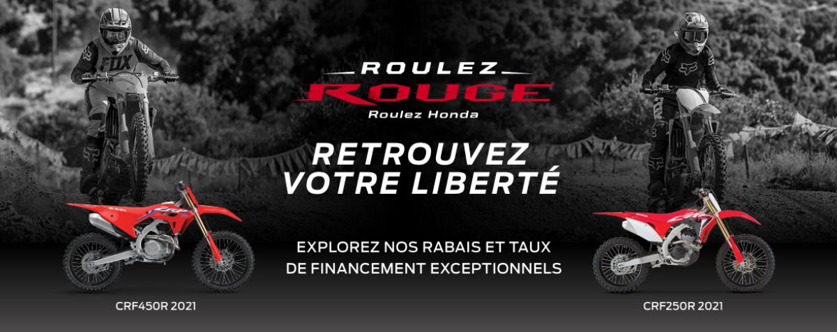 Roulez rouge – Roulez Honda – Hors-route