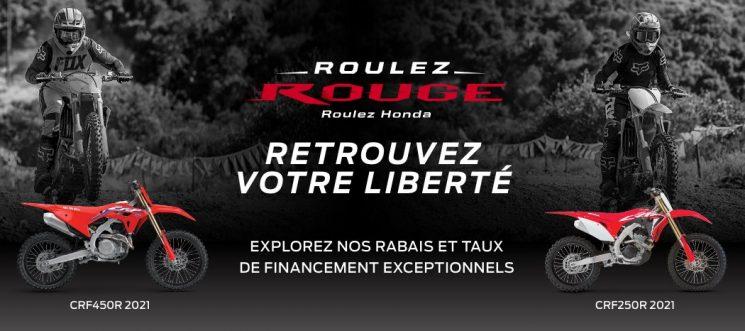 Roulez rouge – roulez Honda – Motocyclettes