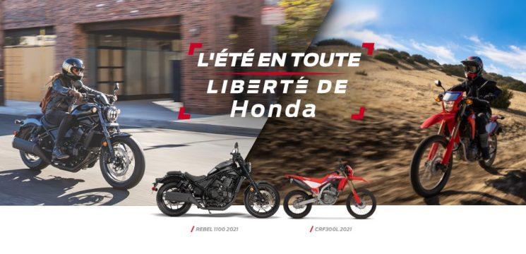L'été en toute liberté de Honda – motocyclettes