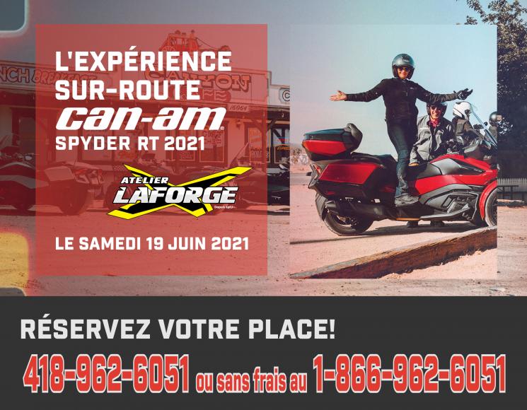 L'EXPÉRIENCE SUR-ROUTE CAN-AM SPYDER RT 2021 D'ATELIER LAFORGE – 19 JUIN 2021